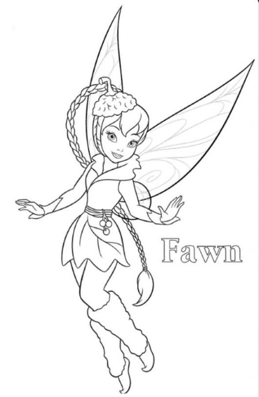 530x811 Periwinkle And Tinkerbell Coloring Page