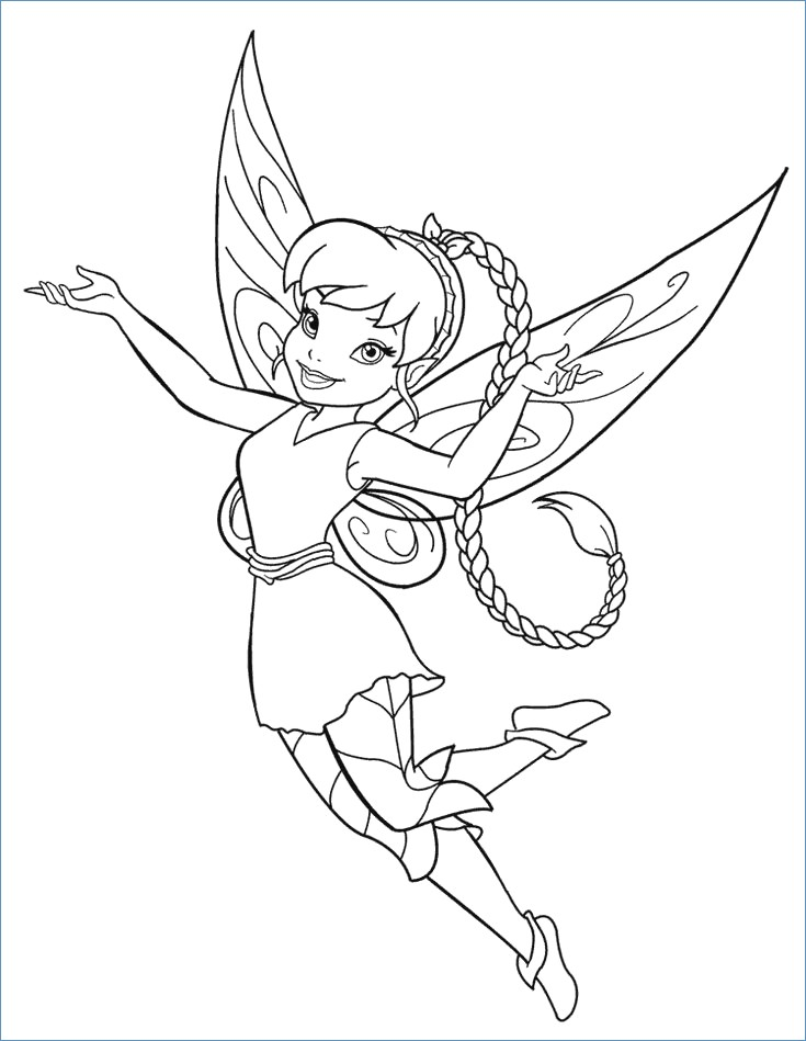 735x949 Periwinkle And Tinkerbell Coloring Page