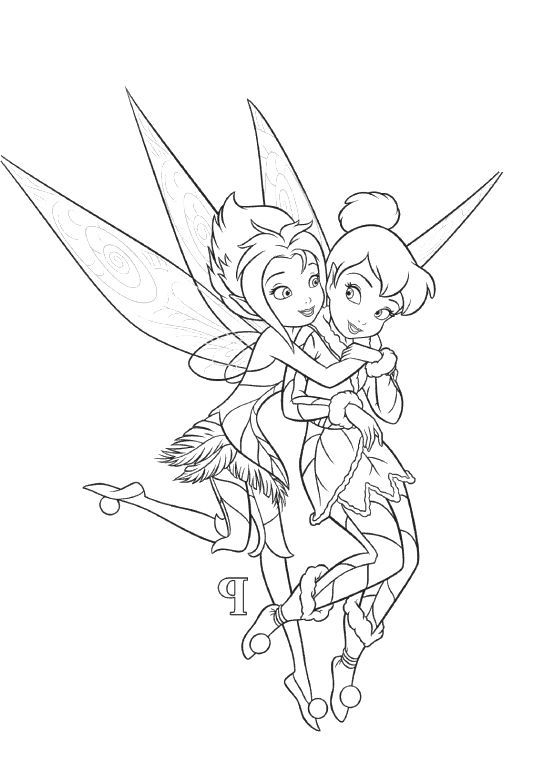 554x782 Tinkerbell And Periwinkle Coloring Pages Fairys