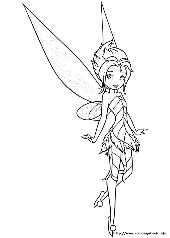 567x794 Tinkerbell Coloring Pages On Coloring
