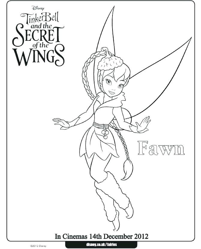 670x830 Tinkerbell Halloween Coloring Pages