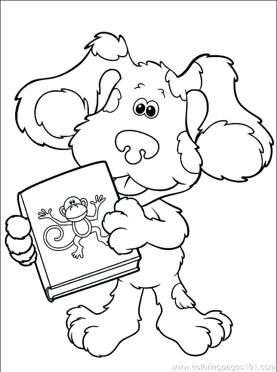 567x762 Blues Clues Coloring Pages Periwinkle Coloring Pages Blue Clues
