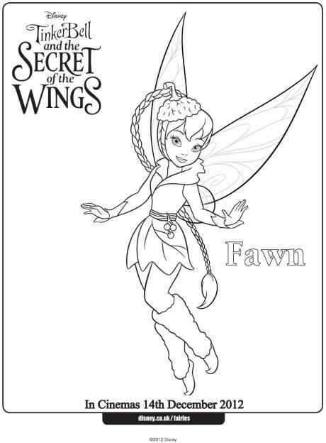 460x624 Fawn Colouring Page Fairy Coloring Pages Disney
