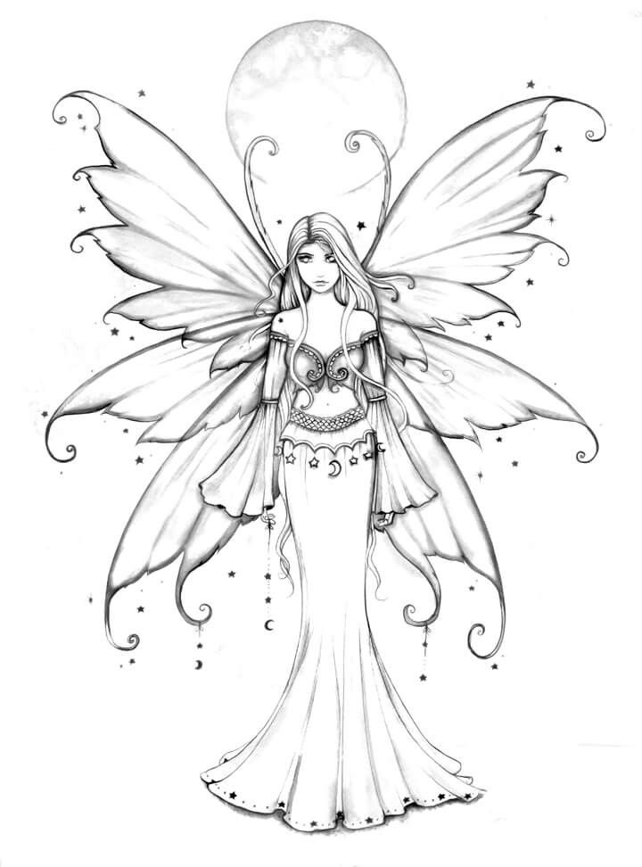 720x972 Free Fairy Coloring Pages
