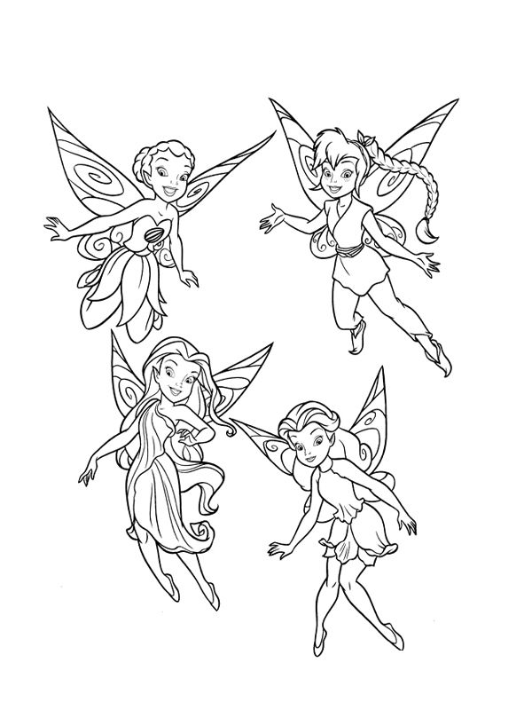 600x800 Periwinkle Tinkerbell Coloring Page For Kids Periwinkle