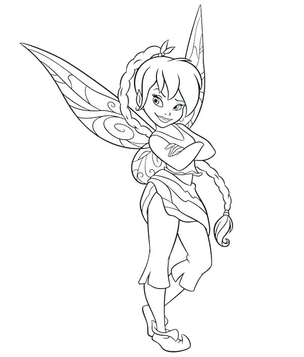 600x705 Tinkerbell Fairies Coloring Pages Fairies Coloring Pages