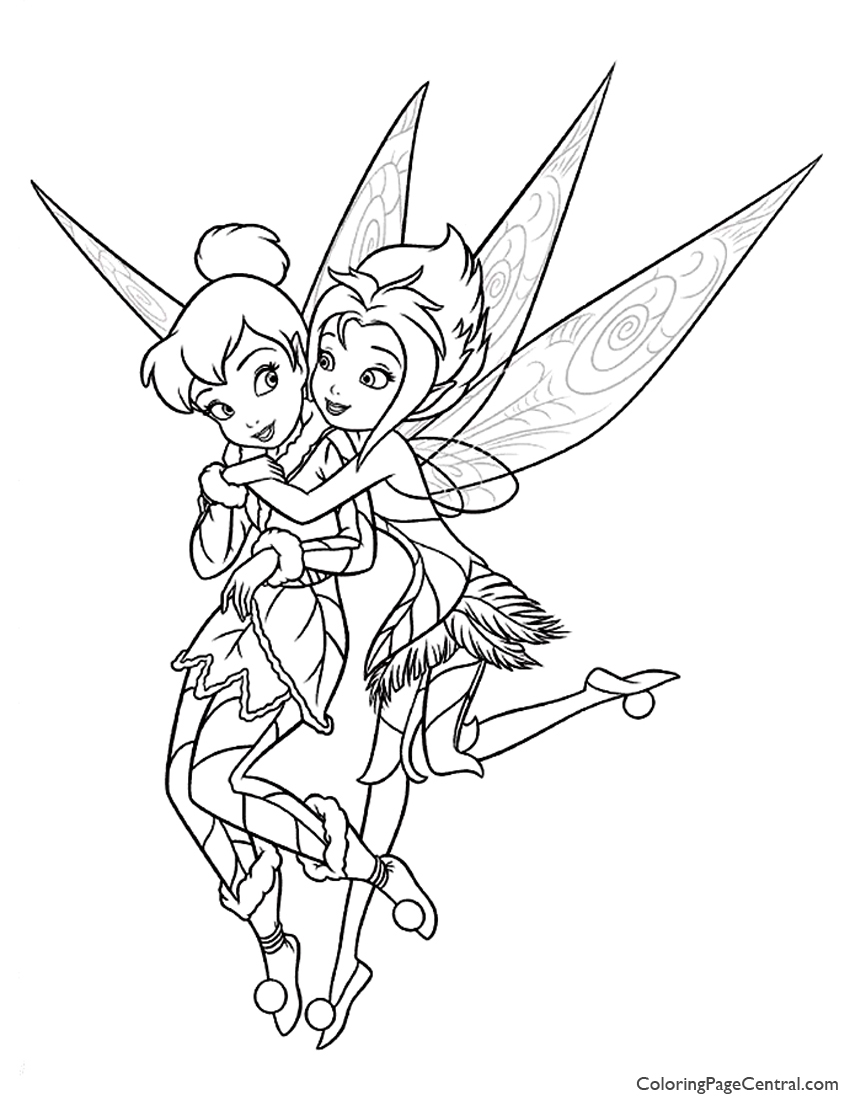 850x1100 Tinkerbell Periwinkle Coloring Page Coloring Page Central