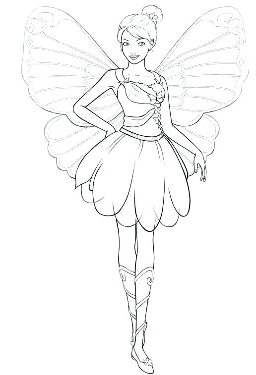 516x757 Unique Disney Fairies Coloring Pages And Girls Barbie Fairy