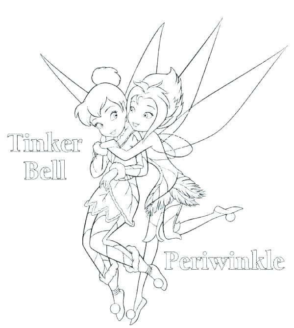 600x669 Tinkerbell Coloring Pages Printable