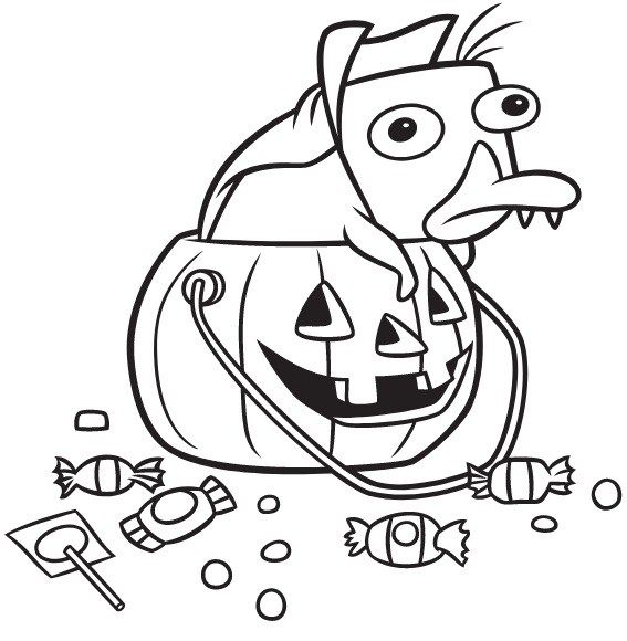 Perry The Platypus Coloring Page