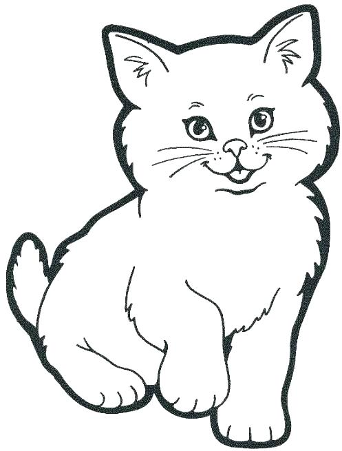 497x655 Cat Color Picture Cat Picture To Color Printable Cat Coloring