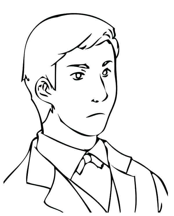 600x745 Lego Man Coloring Page Person Coloring Pages Handsome Business Man