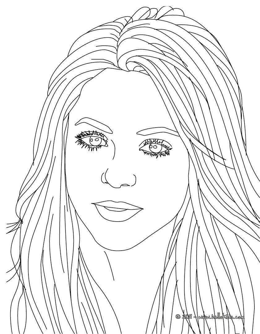 841x1081 Beautiful Shakira Songwriter Coloring Page More Famous People