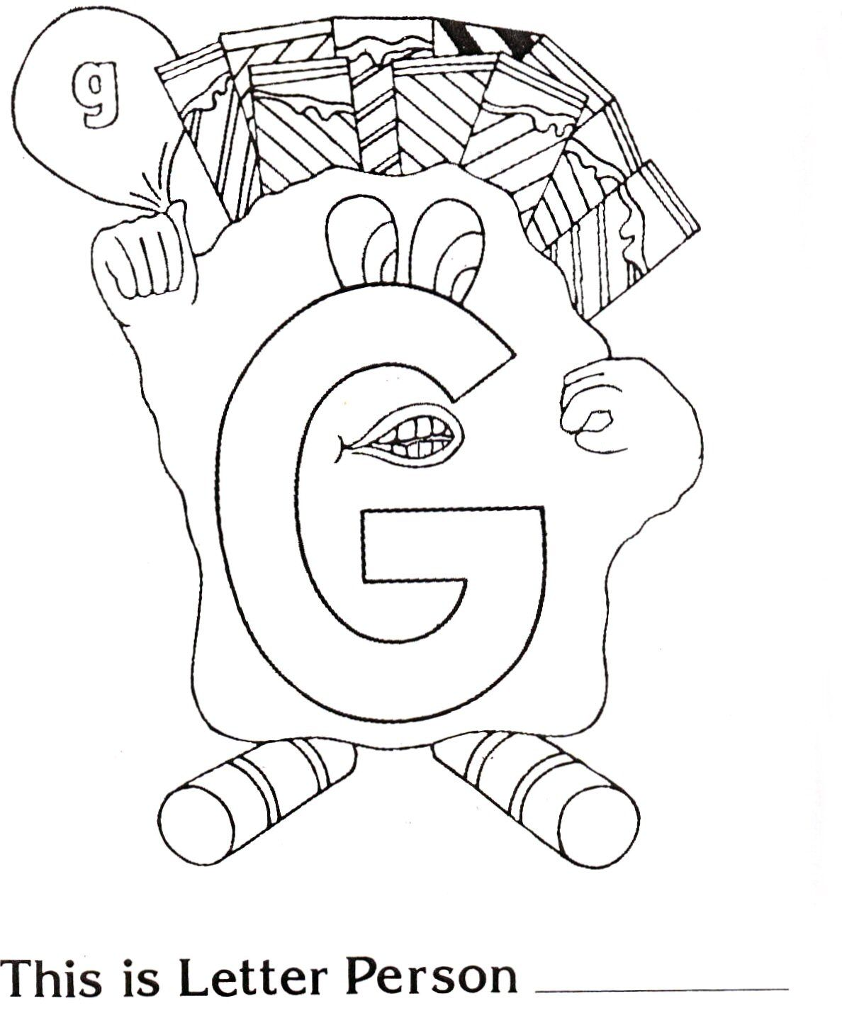 1188x1429 Brilliant Beginnings Preschool Letter Person G Coloring Page