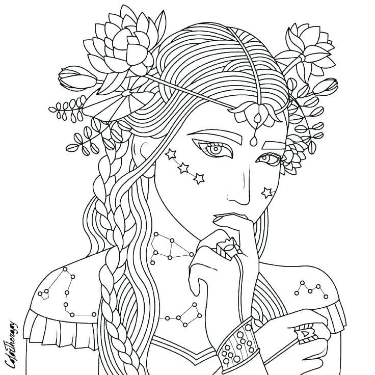 736x736 Coloring Page Person