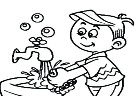476x333 Hand Washing Coloring Pages Hand Washing Coloring Pages Personal