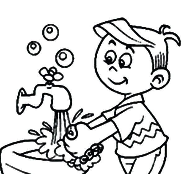 600x563 Hand Washing Is For Personal Hygiene Coloring Pages Coloring Sun