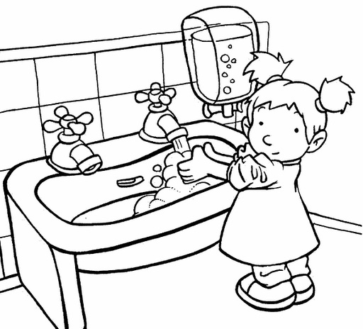512x464 Personal Hygiene Coloring Pages