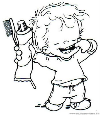 346x400 Personal Hygiene Coloring Pages Sample