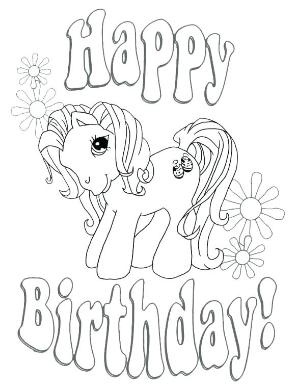 583x755 Free Birthday Coloring Pages Happy Birthday Coloring Pages