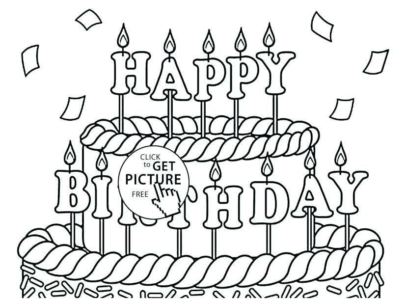 827x609 Free Printable Happy Birthday Coloring Pages Happy Birthday