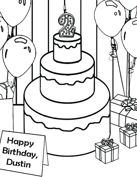 570x738 Ice Cream Cake Coloring Pages Together With Personalized Birthday