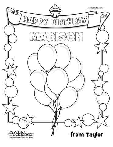 371x480 Personalized Birthday Coloring Pages Frecklebox