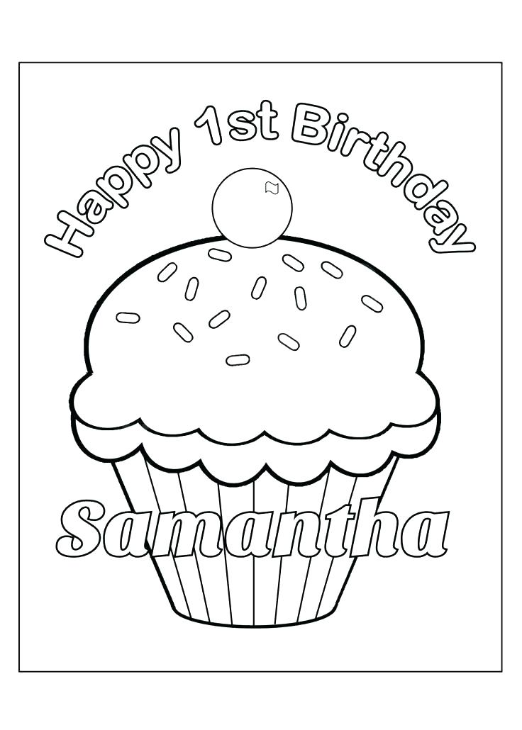 736x1030 Personalized Happy Birthday Coloring Pages Personalized Happy