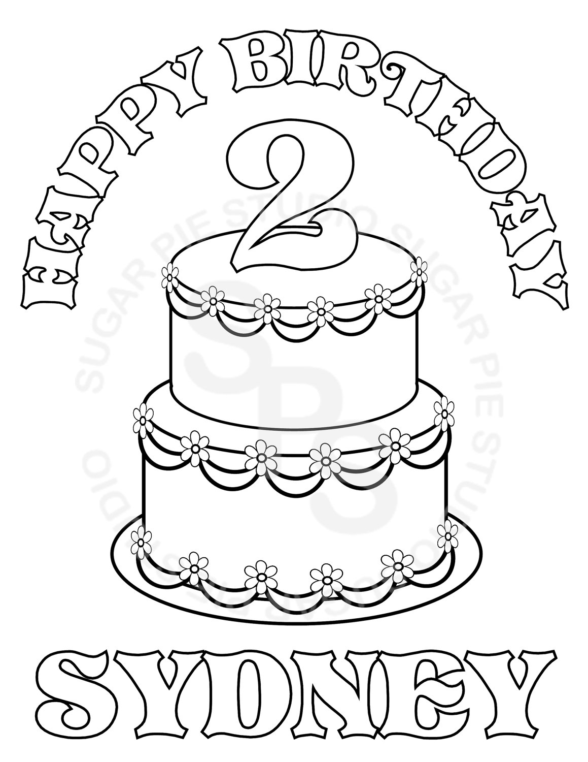 1159x1500 Personalized Happy Birthday Coloring Pages Best Happy Birthday