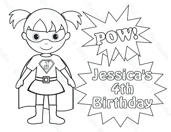 570x440 Superhero Coloring Pages For Toddlers Personalized Printable Super