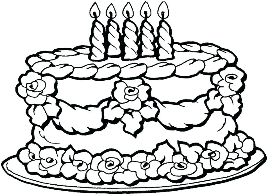 1024x747 Coloring Pages Of Happy Birthday