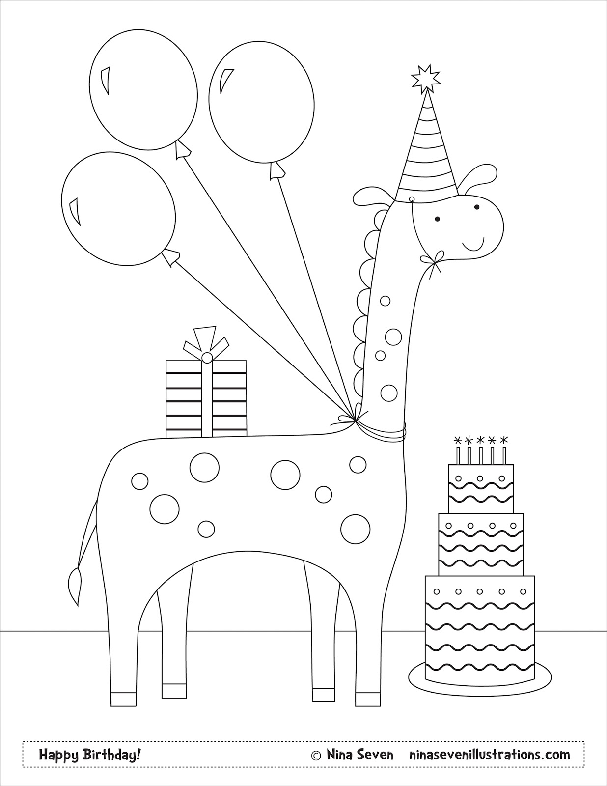 1236x1600 Nina Seven Free Coloring Pages