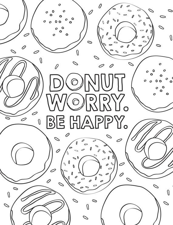 570x738 Coloring Pages Of Donuts Donut Birthday Coloring Pages