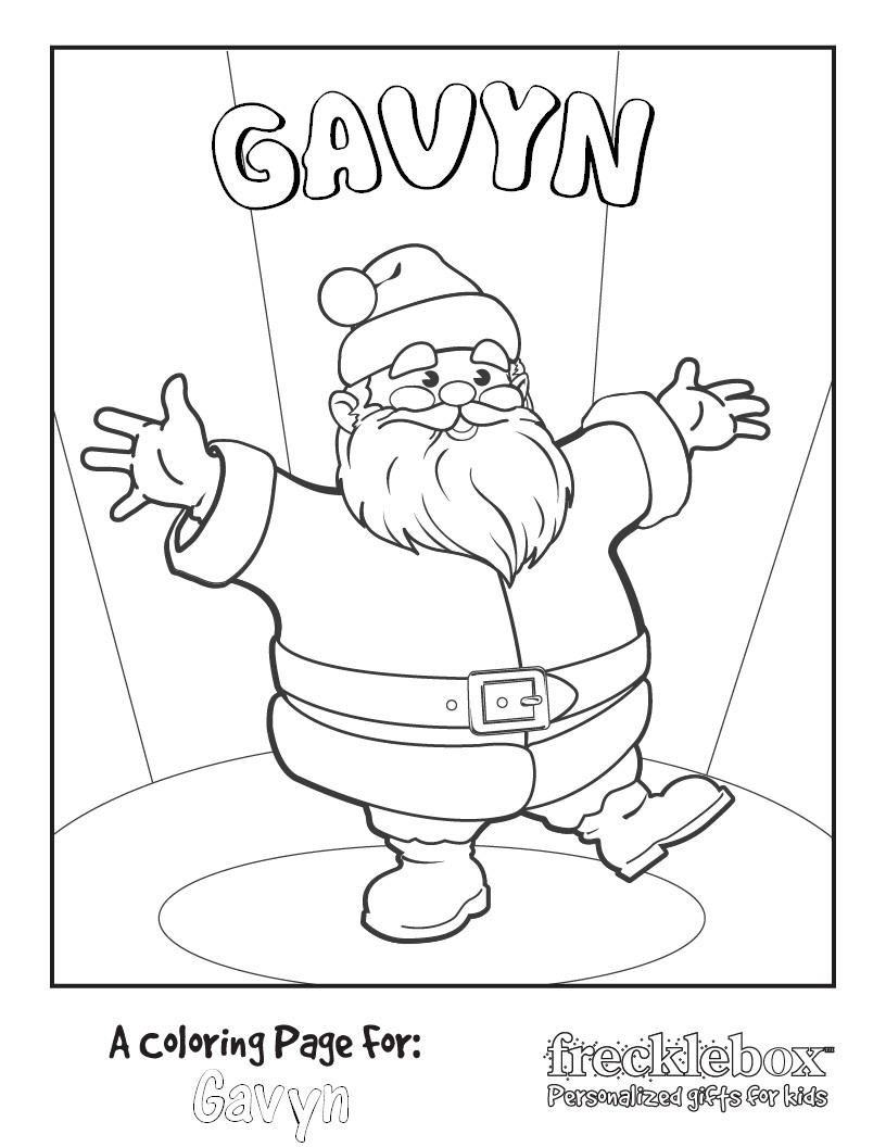 816x1056 Inspiring Ideas Personalized Coloring Pages Free Christmas