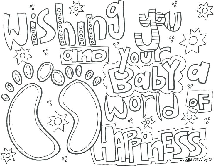 736x568 Personalized Baby Shower Coloring Pages