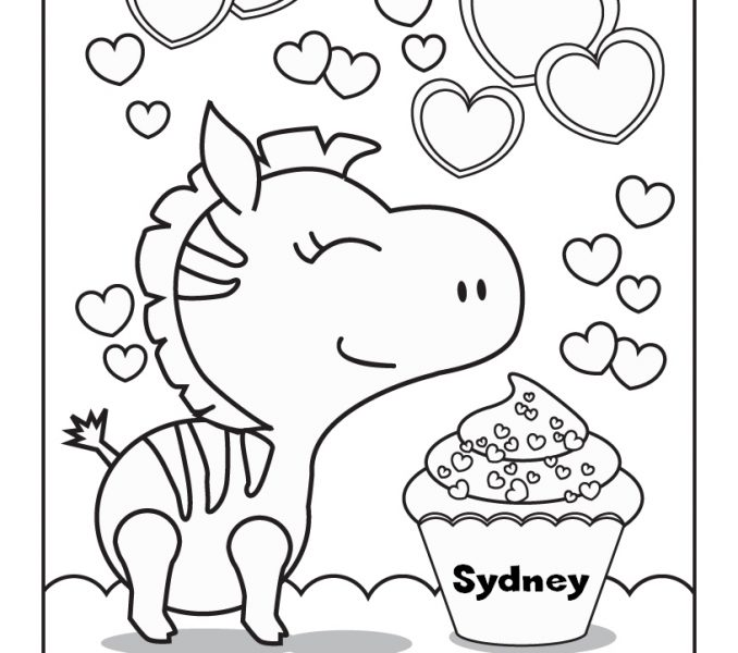 678x600 Personalized Coloring Pages
