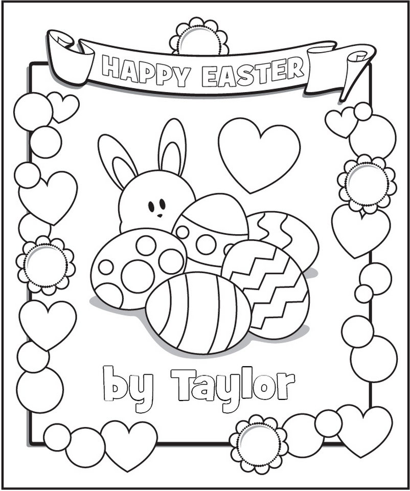 802x960 Free Personalized Coloring Pages Easter Frecklebox Coloring