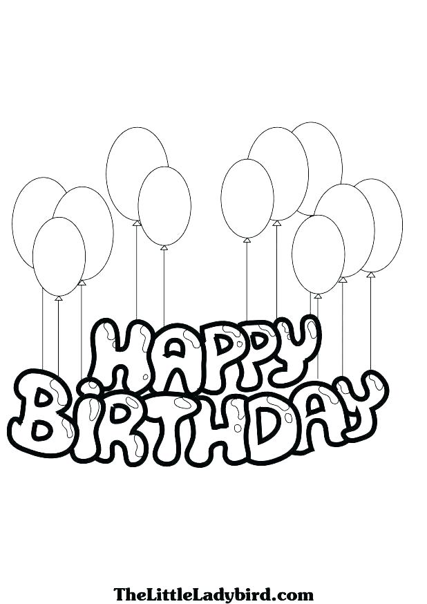 photograph relating to Happy Birthday Coloring Pages Printable titled Tailored Satisfied Birthday Coloring Internet pages at GetDrawings