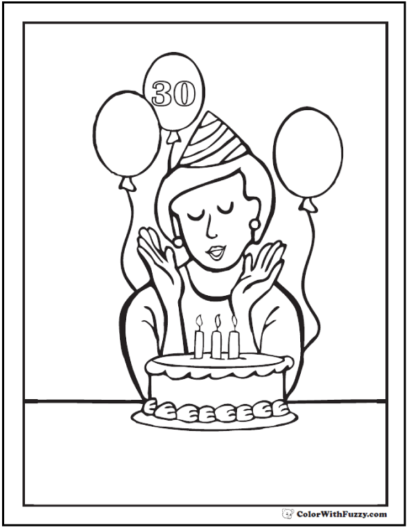 Personalized Happy Birthday Coloring Pages at GetDrawings.com | Free ...