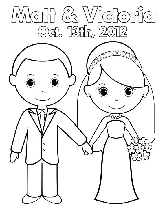 Personalized Wedding Coloring Pages