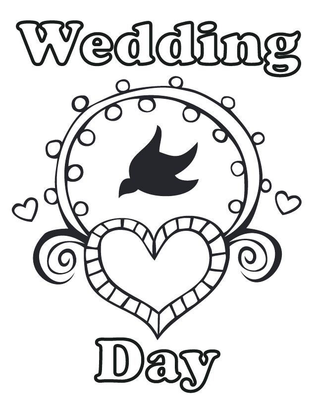 Personalized Wedding Coloring Pages At GetDrawings Free Download