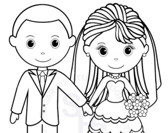 Personalized Wedding Coloring Pages At Getdrawings Com Free For