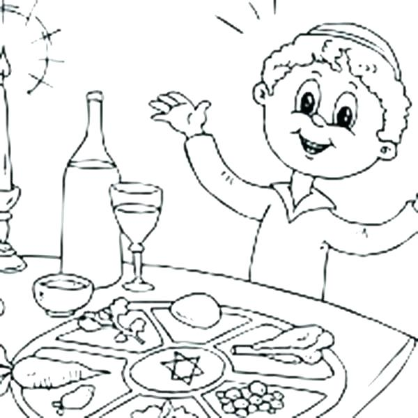 600x600 Passover Coloring Page Coloring Page Passover Coloring Pages Seder