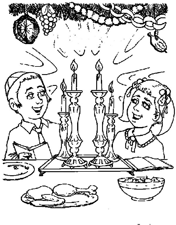600x765 Celebrating Passover Day Or Pesach On Hebrew Coloring Page