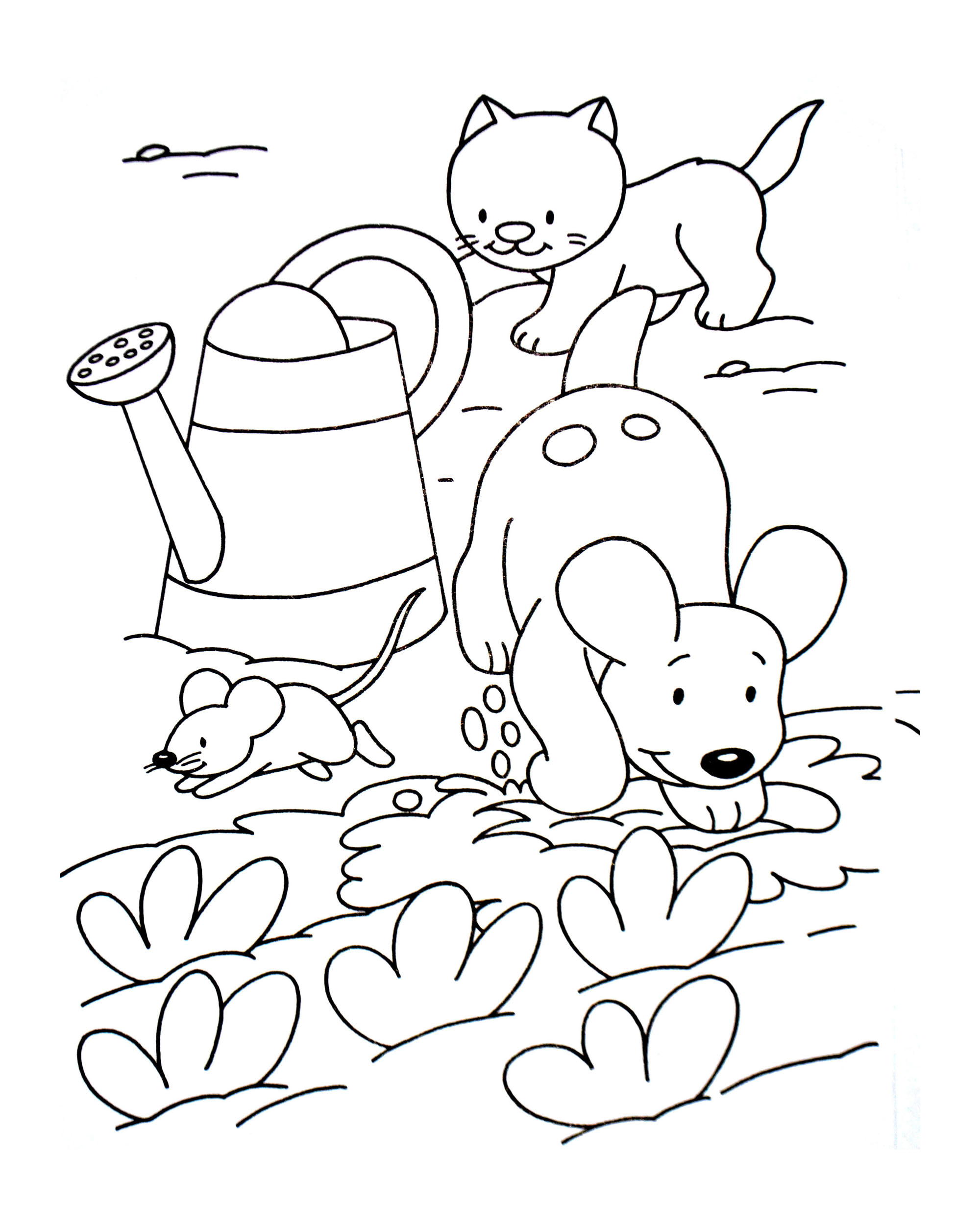 2000x2504 Great Cat And Mouse Coloring Pages Dog Animals
