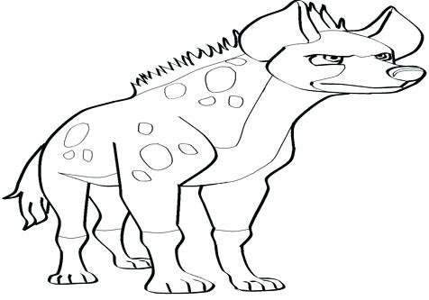 476x333 Hyena Coloring Page Animals Coloring Medium Size Can A Hyena Be