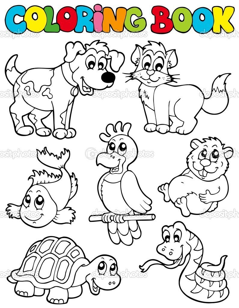 795x1023 Pet Animals Coloring Sheets