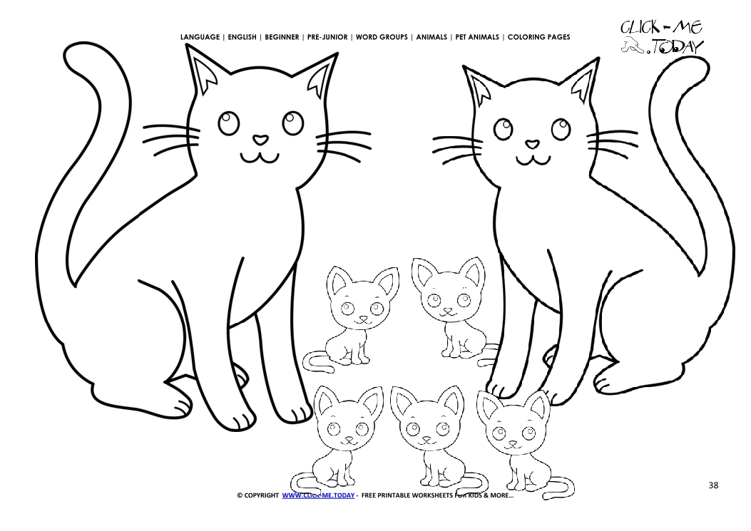 1053x745 Coloring Page Cats