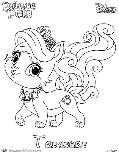 400x517 Palace Pets Coloring Pages Treasure Copy Kids N Fun Com