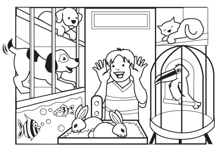 749x530 Pet Store Coloring Pages Store Coloring Page Pets Coloring Pages